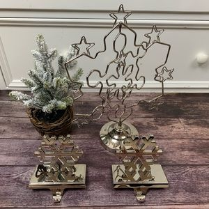 Christmas Card Holder  & 2 Stocking Holders